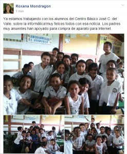 Students of School José C. del Valle (Cuyalí)are implementing the techcnology in their homework using webquest.