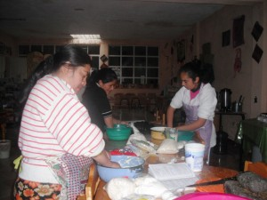 Women are being trained in artisan method in cheese processing (Library of San Carlos Sija, Guatemala)